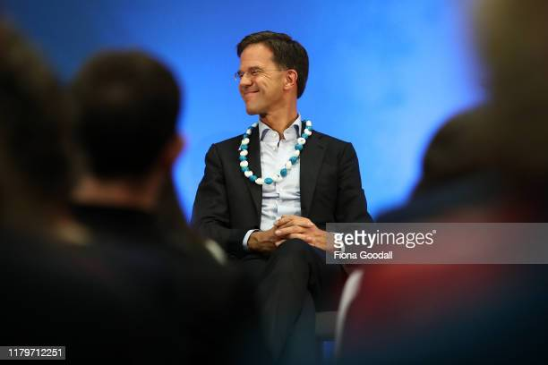 Netherlands Prime Minister Mark Rutte at Auckland University on October 08 2019 in Auckland New Zealand Netherlands Prime Minister Mark Rutte is on a...