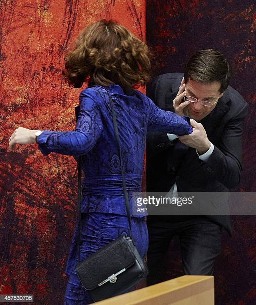 Maurits Hendriks Netherlands Prime Minister Mark Rutte L: Anouchka Van Miltenburg Stock Photos And Pictures