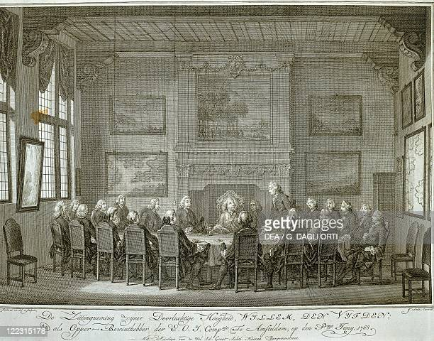 Netherlands Prince William V taking over as governor of the Dutch East India Company in Amsterdam 1765