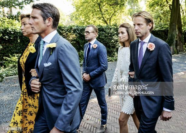 Netherlands' Princesses and Princes Marilene, Maurits, Bernhard Jr., Aimee and Floris attend the funeral of late Princess Christina, as they transfer...
