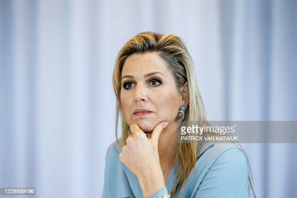 Netherlands' Queen Maxima attends a working visit to the Regional Work Center , as a member of the Dutch Committee for Entrepreneurship, at the UWV...