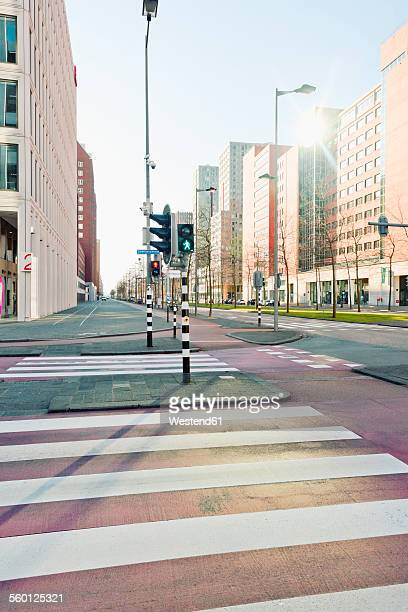 Netherlands, Rotterdam, Kop van Zuid, intersection with traffic lights