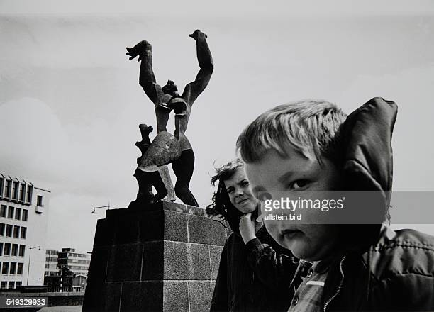 Netherlands Rotterdam The destroyed city monument against the war by artist Ossip Zadkine
