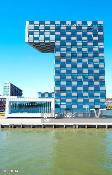 Netherlands Rotterdam The Modern Architectures of the Shipping and Transport College on The Maas River Bank