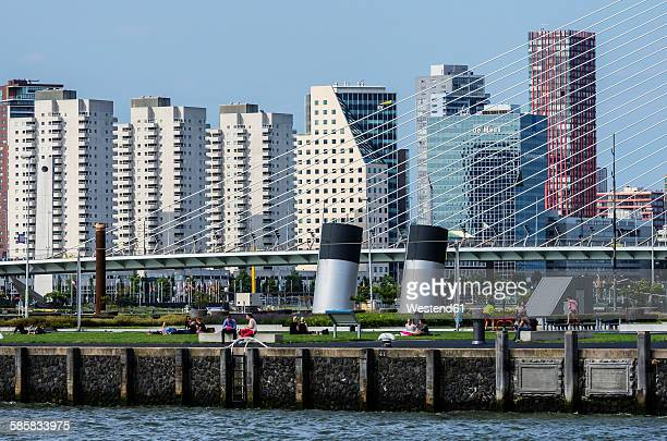 Netherlands, Rotterdam, view to city centre