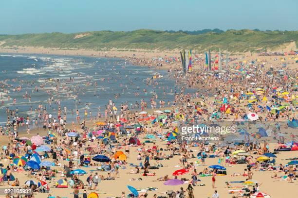 Netherlands, Scheveningen, People Sunbathing