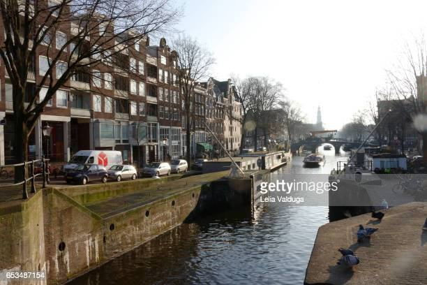 netherlands - the canals of amsterdam - inverno stock pictures, royalty-free photos & images