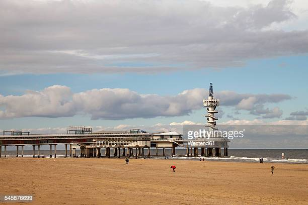 Netherlands, The Hague, Scheveningen, Pier at beach