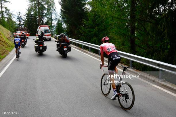 Netherlands' Tom Dumoulin of team Sunweb rides during the 16th stage of the 100th Giro d'Italia Tour of Italy cycling race from Rovetta to Bormio on...