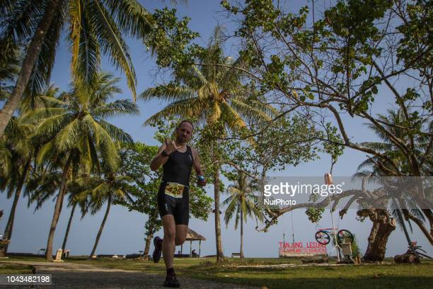 Netherlands triathlon athletes Bjorn Dudok Van Heel during 2018 Rhino Cross Triathlon at Tanjung Lesung Banten Indonesia on September 30 2018 He take...
