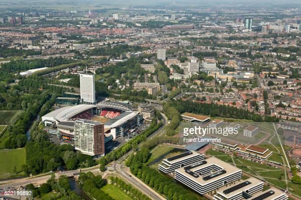 netherlands, utrecht, stadium of football club fc utrecht, aerial - club football stockfoto's en -beelden