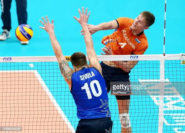 Netherlands v Finland FIVP Men's World Championship Second Round Pool E Thomas Koelewijn of Netherlands at Mediolanum Forum in Milan Italy on...