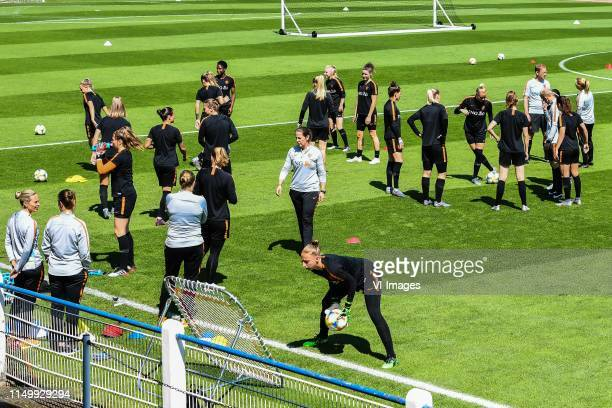 Netherlands women at the start of the training during a training session prior to the FIFA Women's World Cup France 2019 group E match between The...