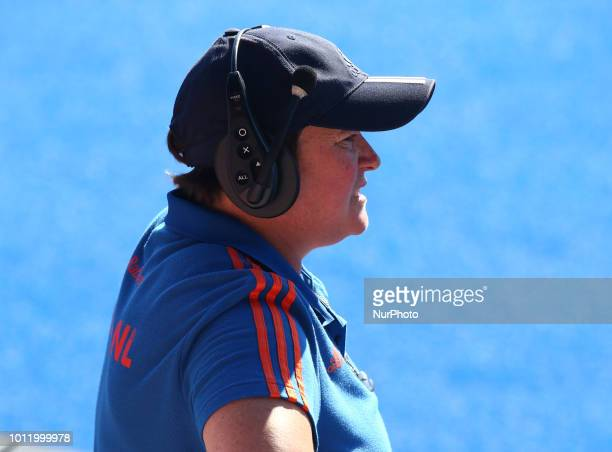 Netherlands Women's Coach Alyson Annan during FIH Hockey Women's World Cup 2018 Day 14 match Final game 36 between Netherlands and Ireland at Lee...