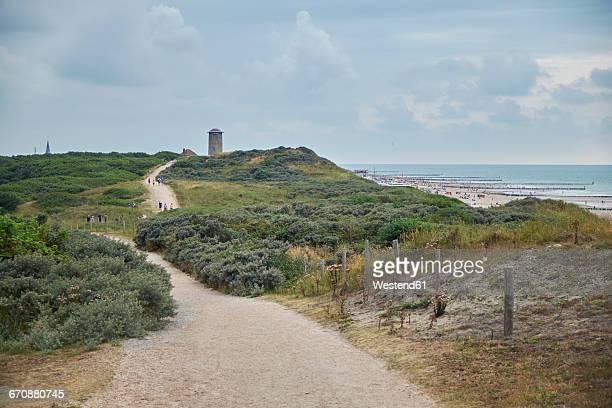 Netherlands, Zeeland, Domburg, hiking path, dune