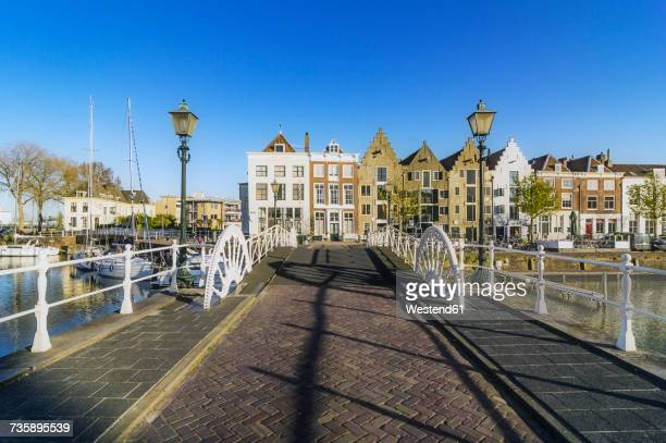 Netherlands, Zeeland, Middelburg, bridge and city harbour