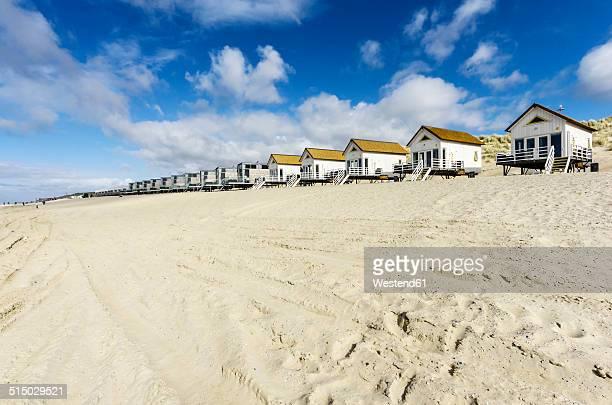 netherlands, zeeland, walcheren, domburg, beach huts at beach - zeeland stock pictures, royalty-free photos & images