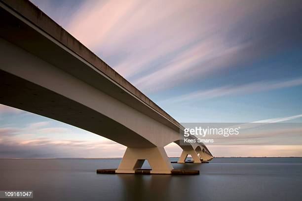 netherlands, zeeland, zeelandbrug - bridge stock pictures, royalty-free photos & images