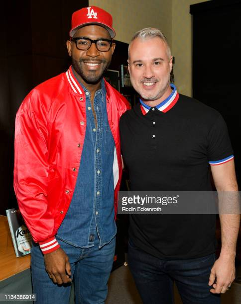 "Netlfix's ""Queer Eye"" Karamo Brown and fiance Ian Jordan celebrate his new book ""Karamo: My Story"" at Barnes & Noble at The Grove on March 07, 2019..."