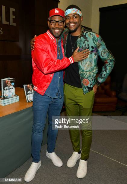 """Netlfix's """"Queer Eye"""" Karamo Brown and son Jason Brown celebrate his new book """"Karamo: My Story"""" at Barnes & Noble at The Grove on March 07, 2019 in..."""
