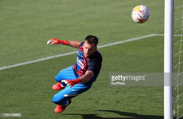 Neto during the friendly match between FC Barcelona and Club Gimnastic de Tarragona, played at the Johan Cruyff Stadium on 21th July 2021, in...