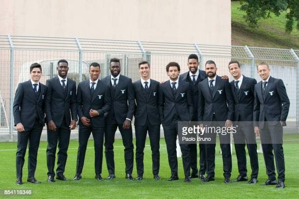 NetoBastosNani Felipe CaicedoBruno Jordao Felipe AndersonFortuna Wallace Do Santos Mauricio Luis Felipe Ramos and Lucas Leiva of SS Lazio pose during...