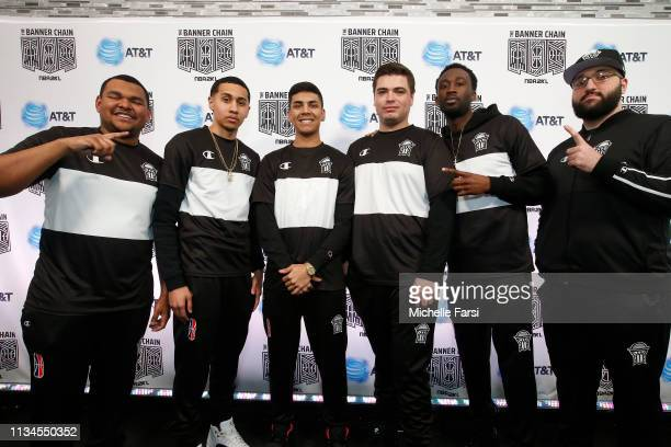 Nets Gaming Club pose for a photo after the game against Knicks Gaming during Day One of the NBA 2K League Tip Off Tournament on April 2 2019 at the...