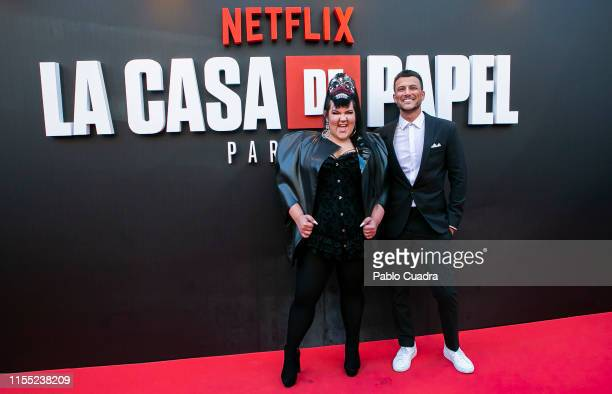 Netta Barzilai attends the red carpet of 'La Casa De Papel' 3rd Season by Netflix on July 11 2019 in Madrid Spain