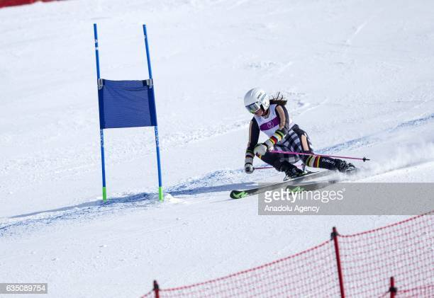 Netta Lappalainen of Finland competes during the Alpine Skiing qualification for the Girls' Giant Slalom Run 2 within the European Youth Olympics...