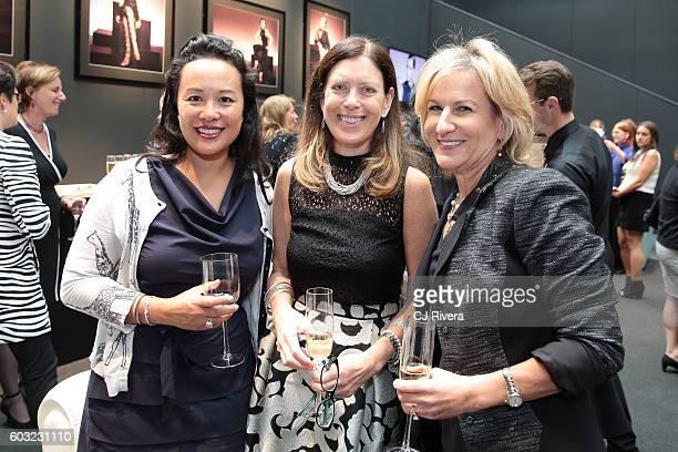 Netta Samroengraja Carol Schafer and Irene Marks attend the Wells Fargo Hospitality Event during New York Fashion Week The Shows on September 12 2016...