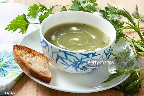 Nessel-Suppe mit Creme Fraiche