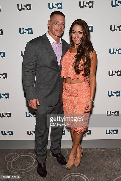 EVENTS 'USA Network 2015 Upfront Press Event at The Rainbow Room in New York NY on Tuesday April 7 2015' Pictured John Cena Nikki Bella 'WWE'