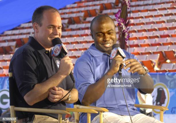 NFL Network announcers Rich Eisen and Marshall Fault during the Ohana Day AFC practice for the 2007 Pro Bowl at Aloha Stadium Honolulu Hawaii on...