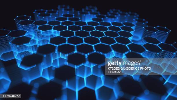 network, conceptual illustration - honeycomb stock pictures, royalty-free photos & images