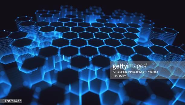 network, conceptual illustration - physics fotografías e imágenes de stock