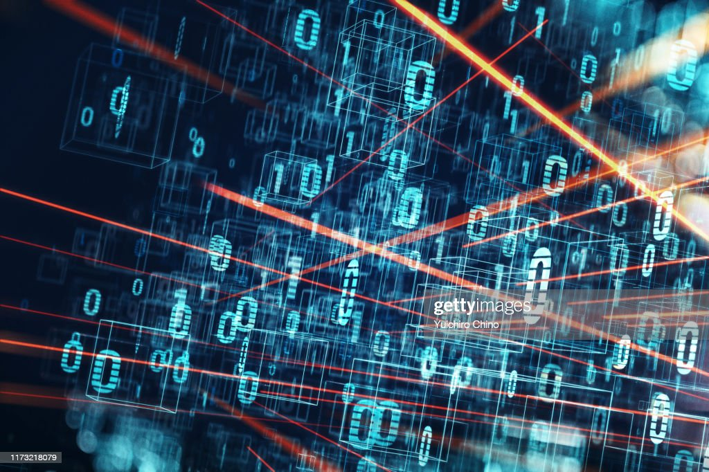 Network data flowing : Stock Photo