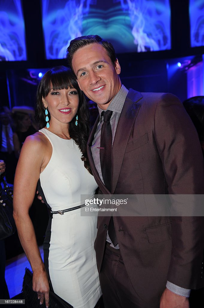 E! Network Events -- 'E! Entertainment 2013 Upfront at The Grand at Manhattan Center Studios' -- Pictured: (l-r) Candice Kumai, Ryan Lochte --