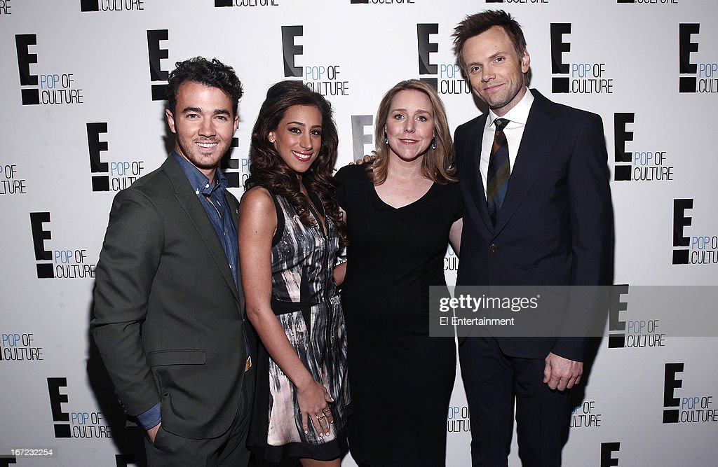 E! Network Events -- 'E! Entertainment 2013 Upfront at The Grand at Manhattan Center Studios' -- Pictured: (l-r) Kevin Jonas, Danielle Jonas, Suzanne Kolb, President, E! Entertainment, Joe McHale --