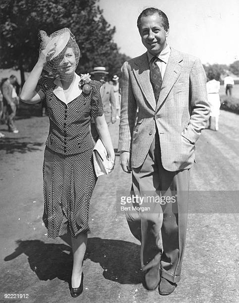 CBS network founder William S Paley with his first wife the former Dorothy Hart New York 1940