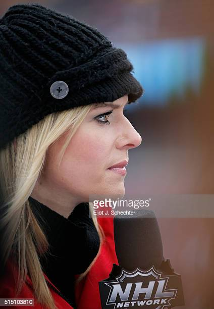 Network host Kathryn Tappan attends the 2016 Coors Light Stadium Series game between the Chicago Blackhawks and the Minnesota Wild at TCF Bank...