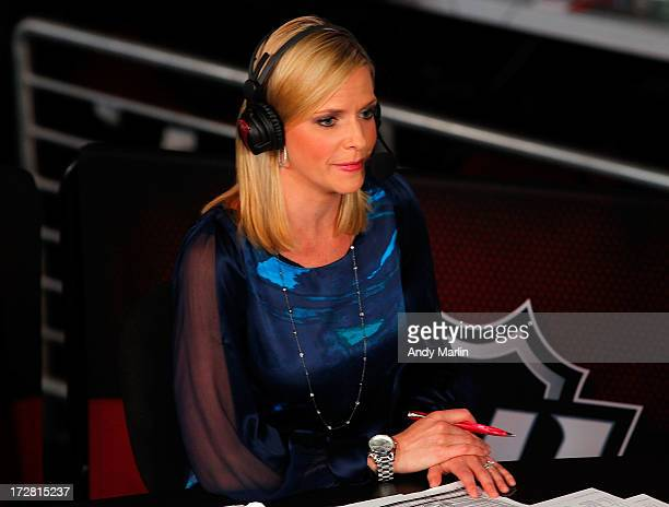 Network host Kathryn Tappan looks on during the 2013 NHL Draft at Prudential Center on June 30 2013 in Newark New Jersey