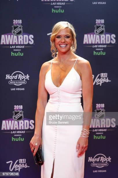 Network host Kathryn Tappen arrives at the 2018 NHL Awards presented by Hulu at the Hard Rock Hotel Casino on June 20 2018 in Las Vegas Nevada