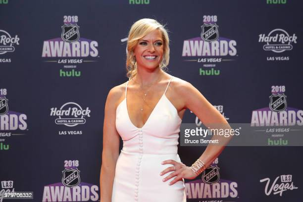 Network host Kathryn Tappen arrives at the 2018 NHL Awards presented by Hulu at the Hard Rock Hotel & Casino on June 20, 2018 in Las Vegas, Nevada.