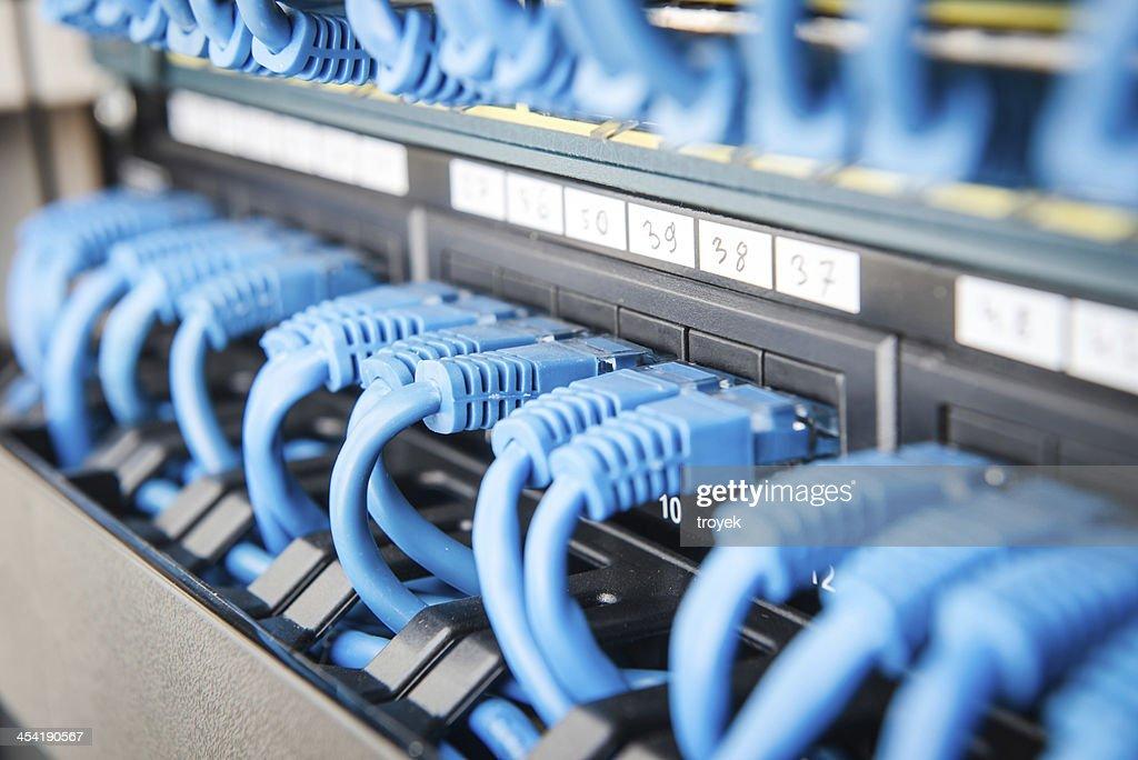 hub de red y cable : Foto de stock