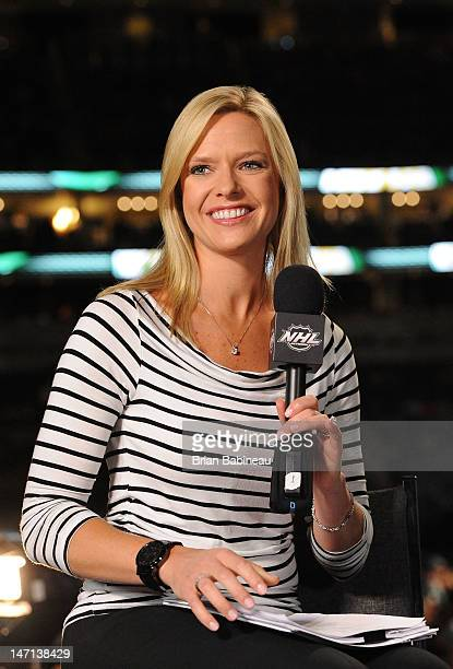 Network Kathryn Tappan smiles during Rounds 27 of the 2012 NHL Entry Draft broadcast at Consol Energy Center on June 23 2012 in Pittsburgh...