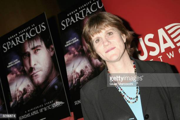 Network Laurette Hayden attends the World Premiere of USA Network's Epic Miniseries Spartacus at the Director's Guild of America on April 7 2004 in...