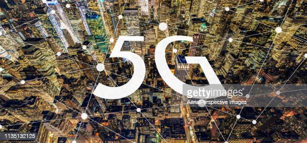 5g network of manhattan - 5g foto e immagini stock