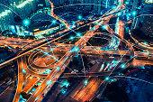 Network of transportation concept