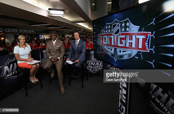 NHL Network onair talent Kathryn Tappen Kevin Weekes and Martin Biron discuss Game Four of the 2015 NHL Stanley Cup Final between the Tampa Bay...