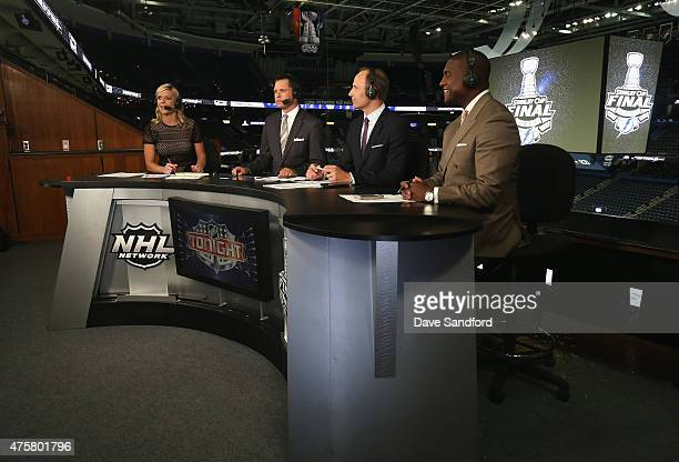 Network on-air talent Kathryn Tappen, Martin Biron, Mike Rupp and Kevin Weekes discuss Game One of the 2015 NHL Stanley Cup Final on the post-game...